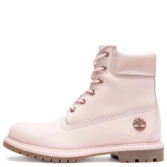 Light pink rose gold timberland 6 inch boot